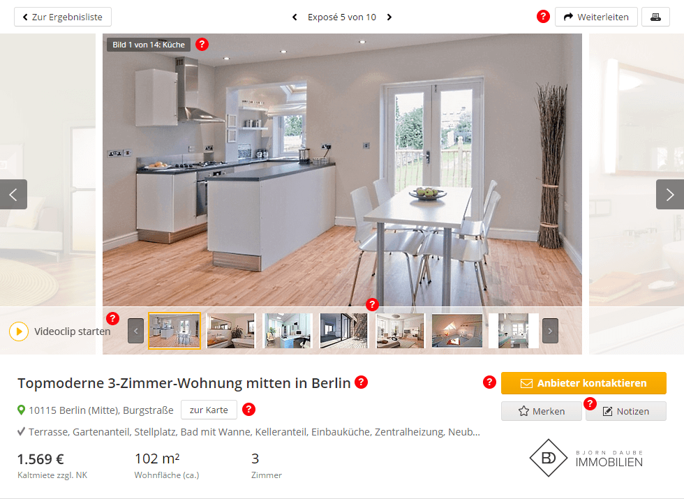 Exposé-Beispiel – Muster-Exposé von immowelt.de