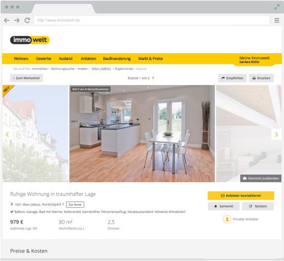 Immobilien inserieren immobilieninserat bei for Zu vermieten wohnung